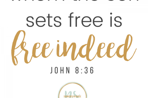 john 8:36 freedom in Christ