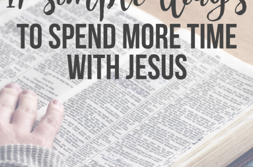 spend more time with Jesus each day