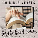 10 Bible Verses for Hard Times