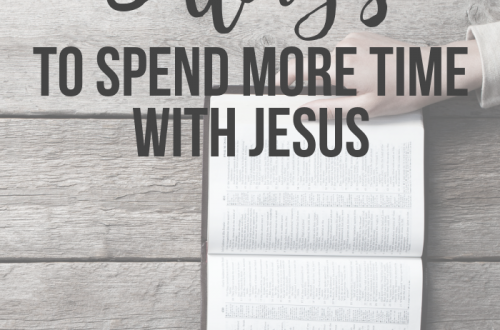 spend more time with Jesus