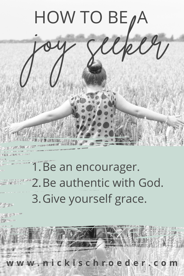 how to be a joy seeker